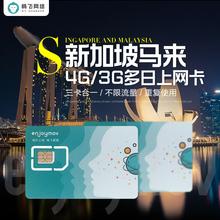 马来西亚电话上网卡4G无限流量新马两国通用可充值送卡针 畅飞