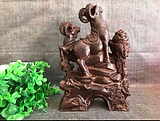 Vietnamese agarwood wood carving ornaments Sanyang Kaitai wood carving sheep ornaments home lucky wood carving crafts