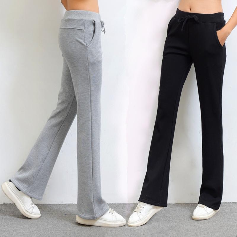 韩版全棉喇叭裤