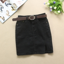 Black Jeans Short Skirt Spring and Summer 2019 New Kind of Half-length Skirt