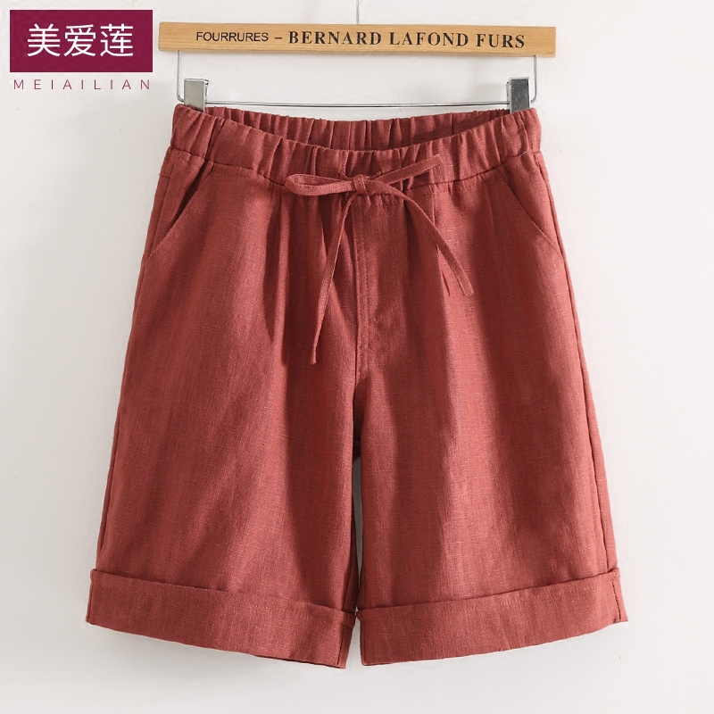 棉麻直筒中裤