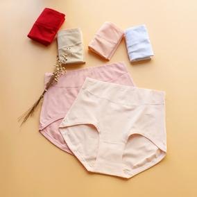6条包邮 盈康高腰大版内裤女纯色光板有机棉质面料三角裤头遮肚脐