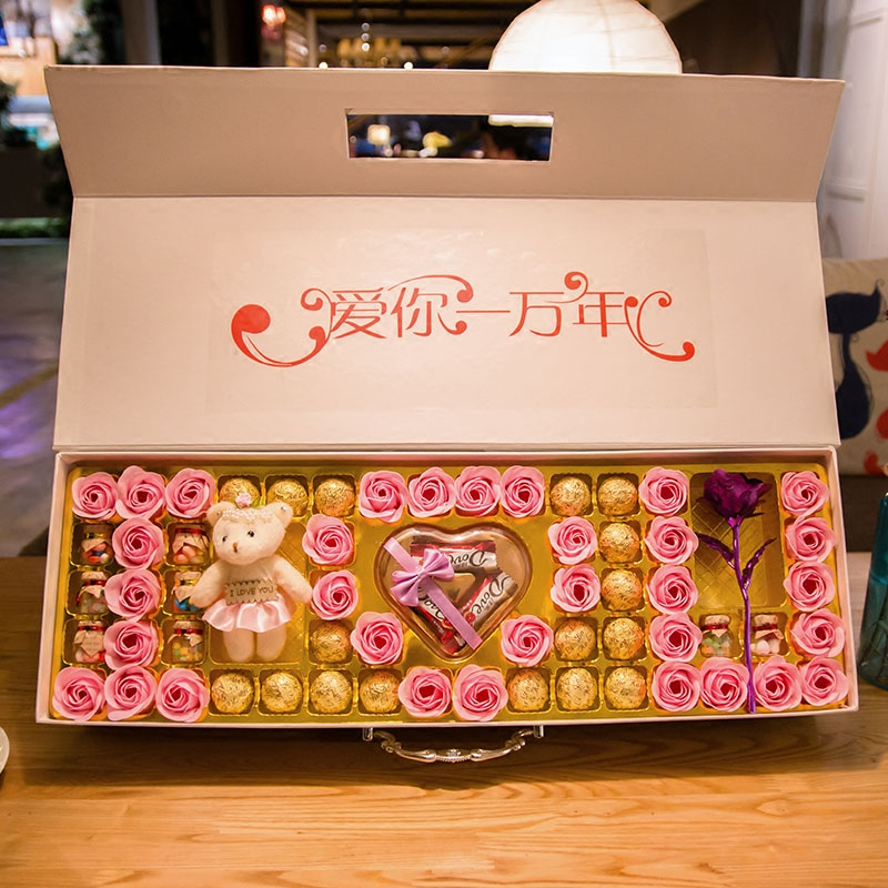 费列罗巧克力金箔玫瑰礼盒