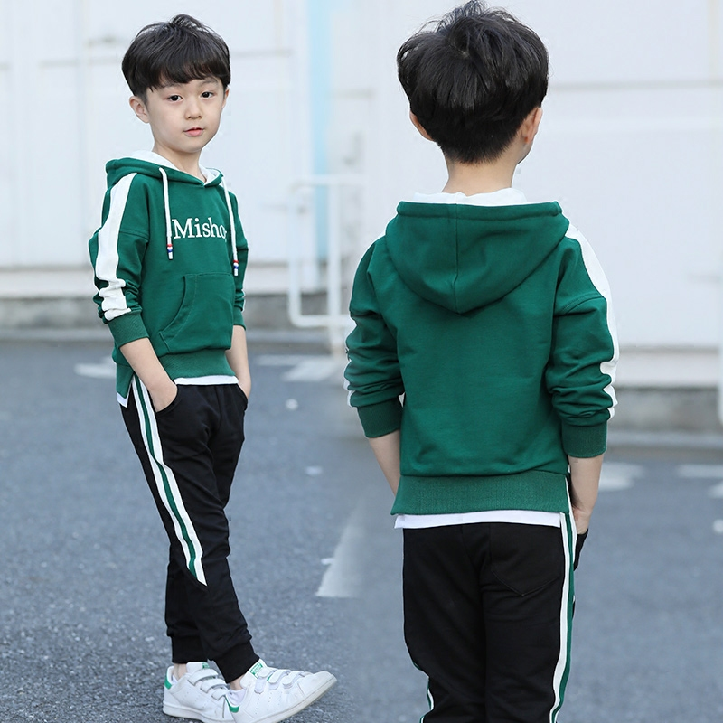 韩版男童卫衣套装秋