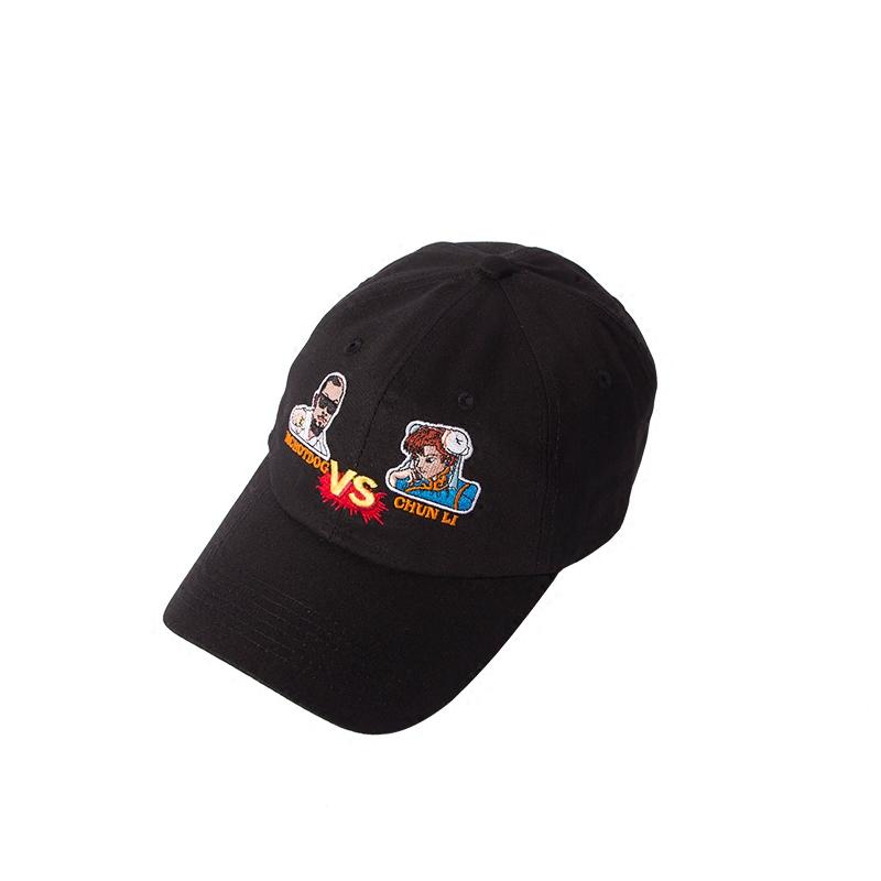 xiunix联名mchotdog街头霸王帽子男老爹帽鸭舌帽女热狗同款弯檐帽