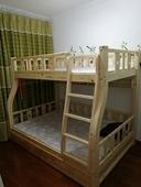 新品 守咀幽复菜层床两层上下床高低床儿童床成人松木床母子床