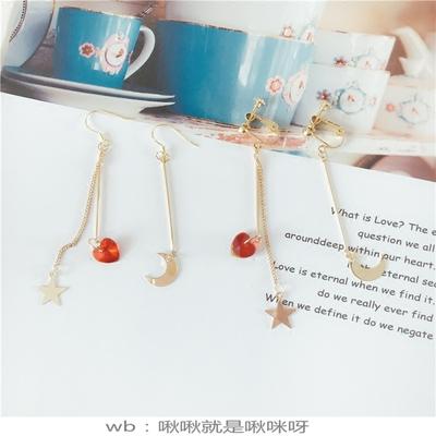 啾啾耳饰 水冰月系列星星月亮美少女战士耳夹耳环925纯银 款式39