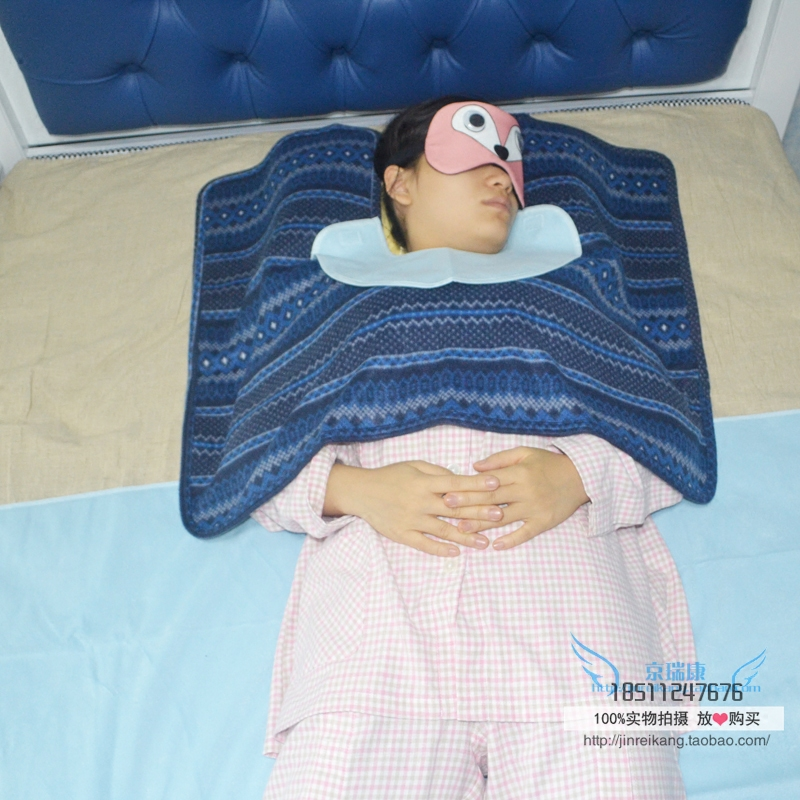 山海康肩部保暖毯卧床病人老年人披肩毯子配防水围嘴垫秋冬保暖款