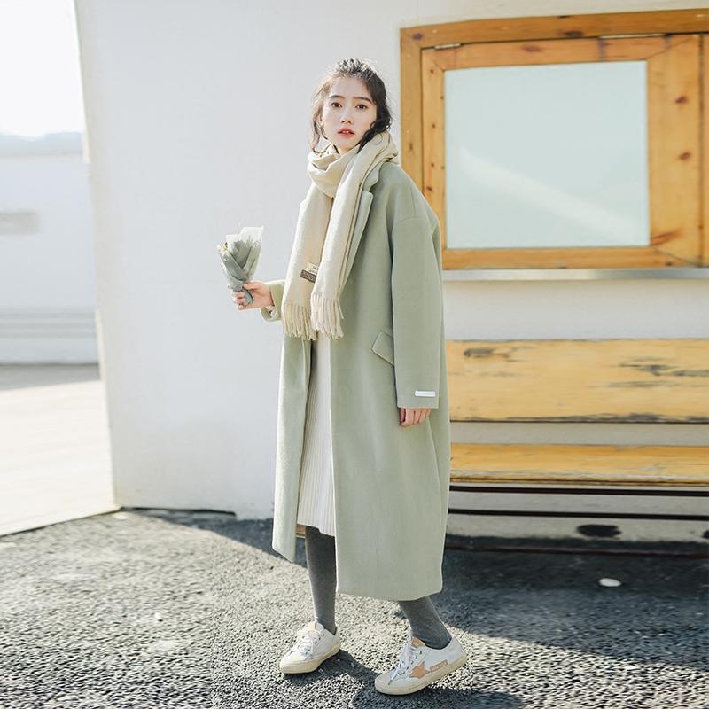 毛呢大衣女中长款韩国韩版2017新款冬季加厚森系文艺呢子外套满6元减5元