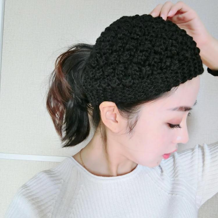 韩版毛线空顶帽