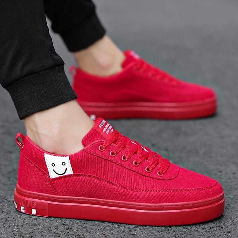 鞋子男红色韩版