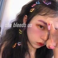 女孩蝴蝶发夹