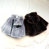 Children's baby cotton clothing autumn and winter male baby out to wear children's fur clothing girl swarm thick cotton jacket