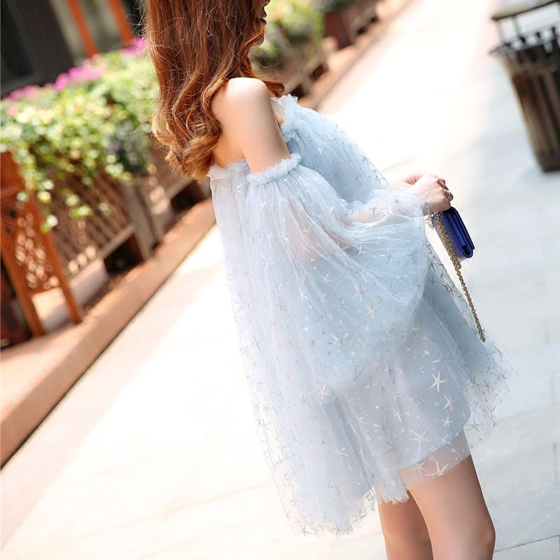 蓬蓬裙网纱连衣裙
