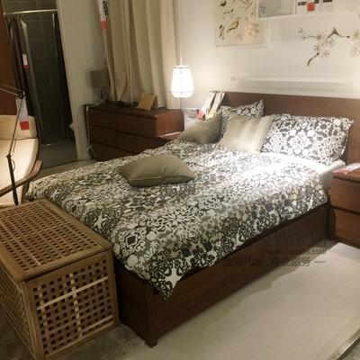宜家 马尔姆 高床架带4个储物盒(150x200 黑/白/橡木/褐色)怎么样