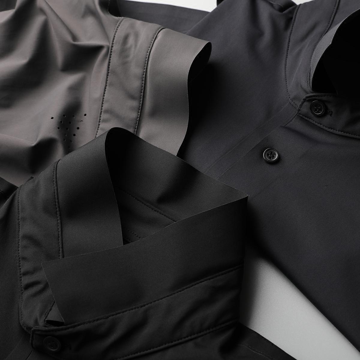 007夏新款短袖T恤纯色Polo衫男高端丝滑弹力修身压胶男士翻领T恤