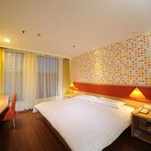 临沂蒙山大道国际会展中心店双人床 如家酒店图片