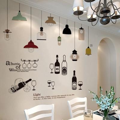 墙画墙纸墙贴纸自粘个性创意卧室房间墙面温馨餐厅装饰品墙上贴画年货节
