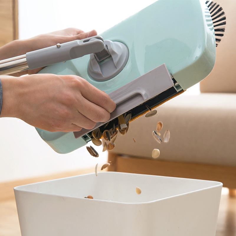 手推式硬毛扫地机带簸箕家用一体式扫地拖地清洁笤帚拖把懒人扫把