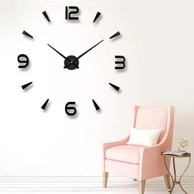 3D立体简约墙贴挂钟客厅时尚创意艺术家用时钟 diy个性数字大钟表品牌资讯