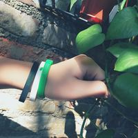 Original tide brand ACBOZZO small fresh green leaf bracelet solid color couple models silicone men and women wristband bracelet gift