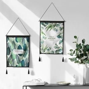 态生活 INS北欧风绿植挂画挂毯挂布家居背景墙布艺装饰画电表遮挡