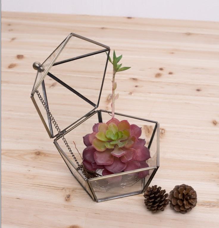 几何玻璃花盆