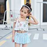 Korean children's girls baby swimsuit split swimsuit female child 1-3 years old baby girl treasure child cute