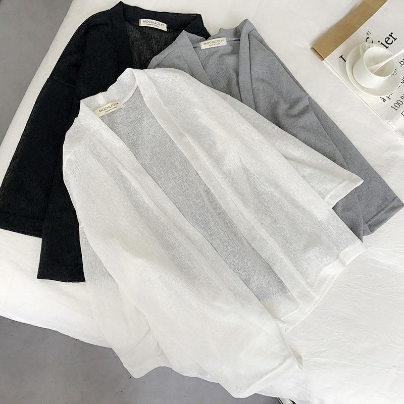 白雪纺衫女短款