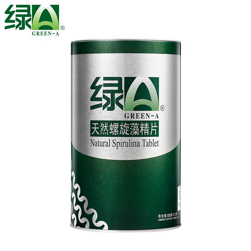 【下单立减】绿A天然螺旋藻精片12片*50袋调节血脂抗疲劳耐缺氧