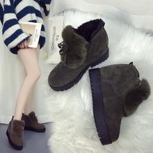 毛毛鞋女秋冬季2017新款韩版内增高女鞋加绒棉鞋百搭松糕鞋高跟鞋