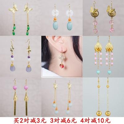 黄金色原创古典复古中国风新年款耳环女超仙耳坠古装汉服中式耳饰
