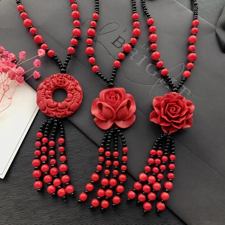 玫瑰花毛衣链