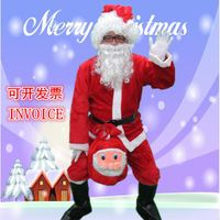 Santa Claus clothing adult men and women gold velvet Christmas old man clothes men's suits show out costumes