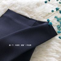 Spring and summer new products, Tibetan youth, work pants, suit pants, female feet, nine points, dark blue, casual trousers, long pants