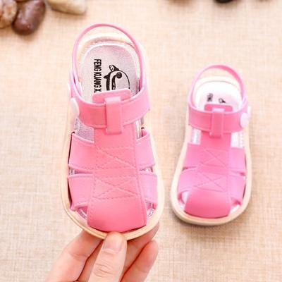 2018夏季新款女童鞋凉鞋1-2-3-4岁防滑软底包头韩版小孩宝宝公主