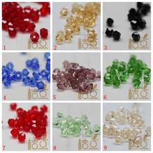 桔点手工国产水晶菱形珠尖珠刻面珠4mm闪光珠DIY材料配件G30