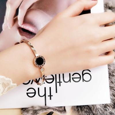 罗马数字玫瑰金手环