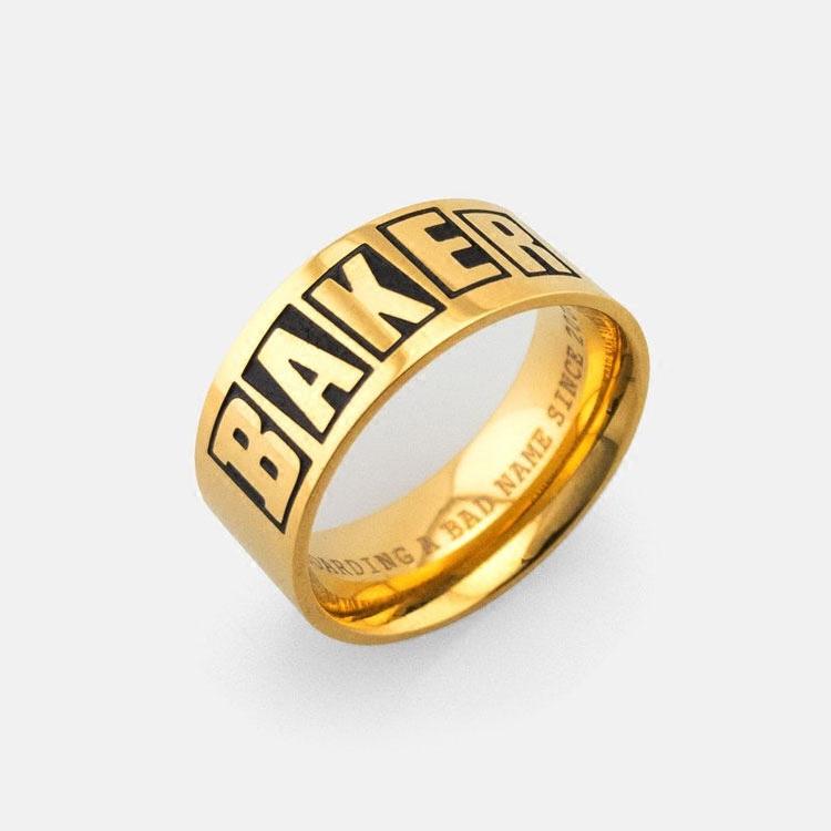 美国BAKER戒指滑板戒指情人节送男友运动饰品潮人惠众滑板