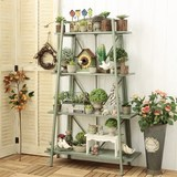 Four-storey decorative shelf shop display decorative shelf large flowerpot shelf