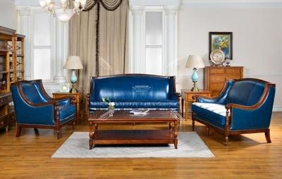 欧美式头层真皮沙发休闲椅复古简约样板房地中海乡村组合正品折扣
