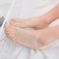 蕾丝船袜女浅口隐形袜子韩版春夏季超薄花边瘦腰纯棉袜单鞋短袜套