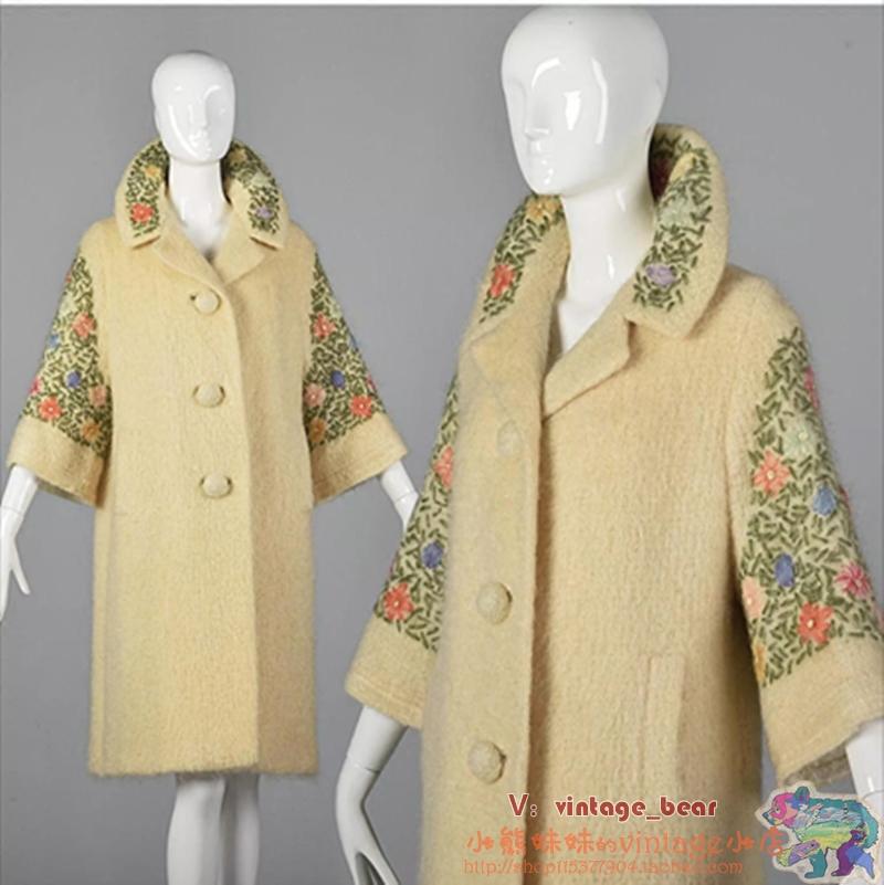 7分袖羊毛大衣