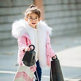 Daily specials new winter children's clothing children's thick cotton coat boys and girls large fur collar fur long coat