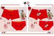Couples underwear cotton suit big red this year underwear married men's boxers women's triangle cartoon cute
