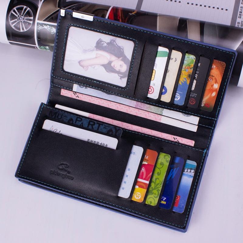 钱包男长款青年学生超薄日韩软皮夹正品男士时尚商务简约钱夹手包