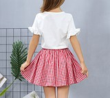 Small and medium girls summer summer thin pleated breathable pure cotton versatile princess skirt