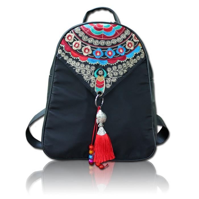 旅行刺绣潮包