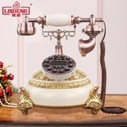 丽盛美式古典客厅欧式仿古电话摆件古董电话创意摆设办公桌面电话