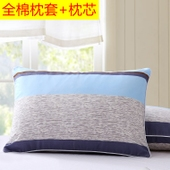 学生枕头送拉链枕套枕芯宿舍成人寝室卡通酒店单人护颈椎保健枕图片